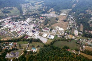 Aerial view of Sneedville TN